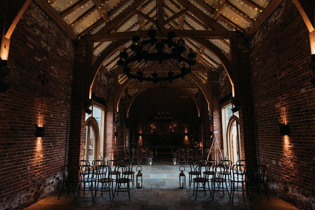 Ceremony room at Hazel Gap Barn