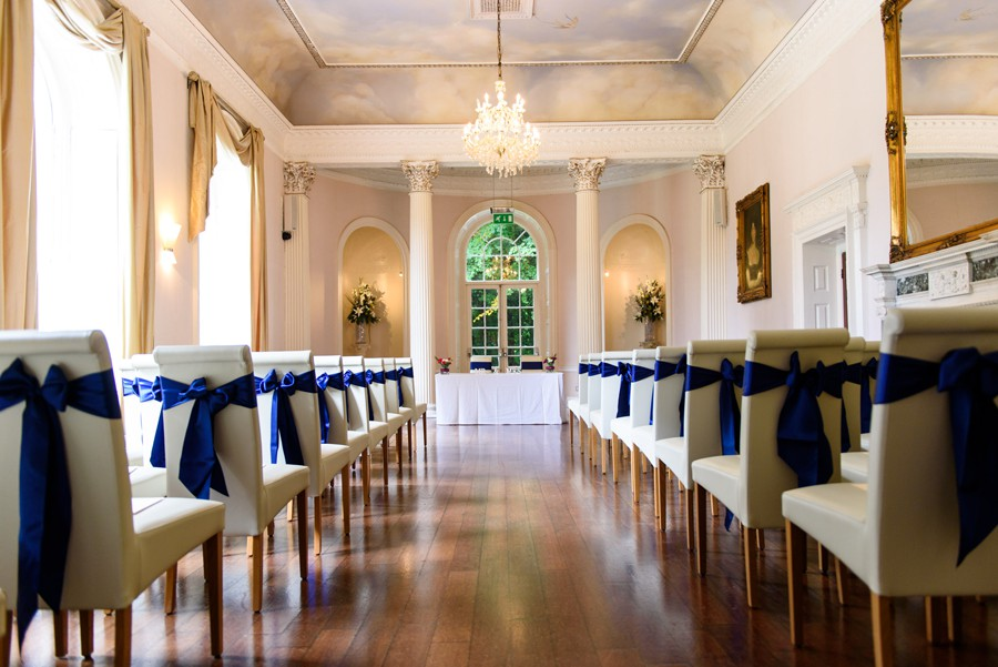 The wedding ceremony room at Colwick Hall