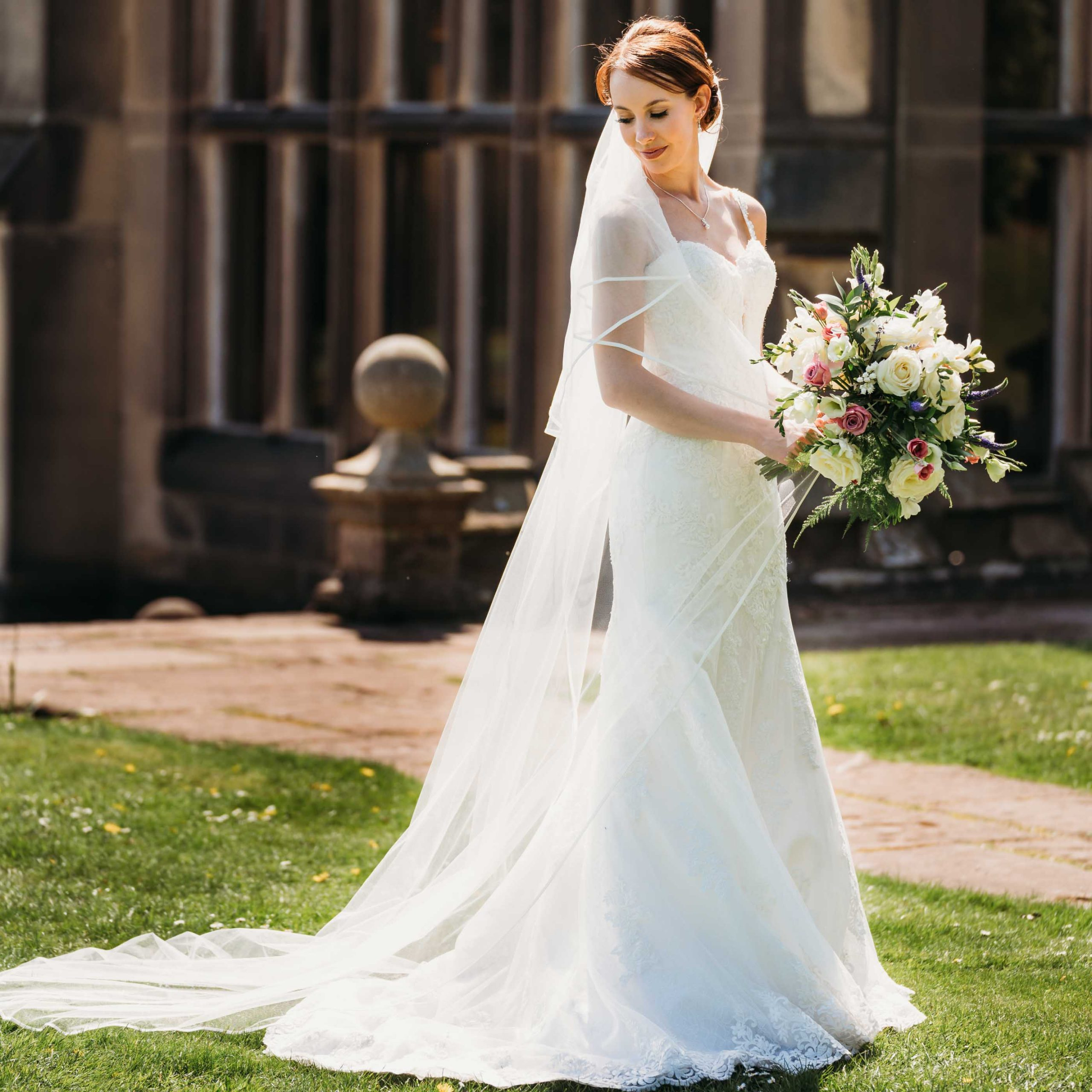 Beautiful bride at a Nottingham Wedding