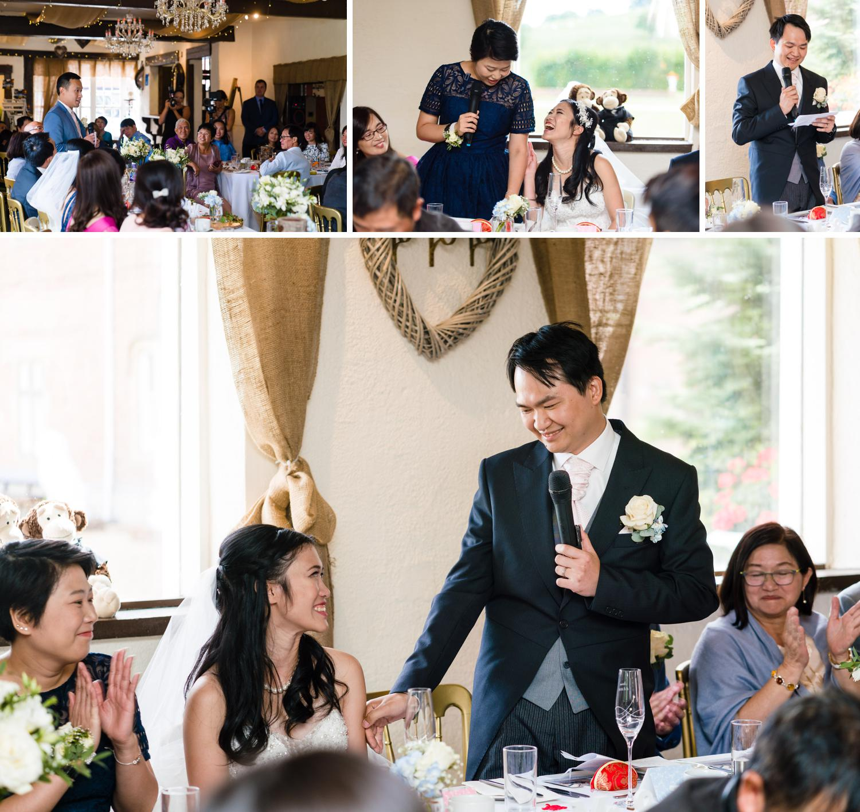 Eriviat Hall Wedding speech photos from Leona & Steven's wedding day
