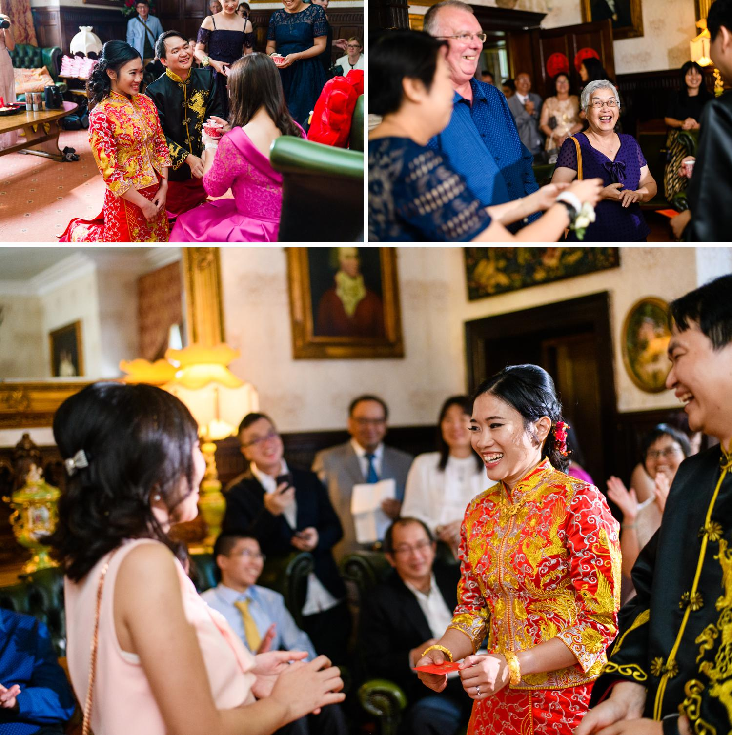 Chinese tea ceremony at Leona & Steven's wedding at Eriviat Hall