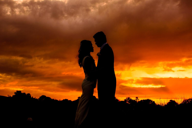 Silhouette wedding photo taken at Eivirat Hall