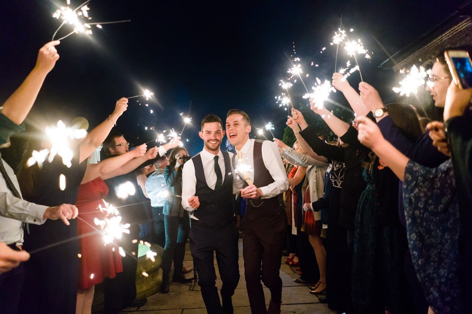 Sparkler wedding photographs