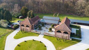 Hazel Gap Barn from the air via drone