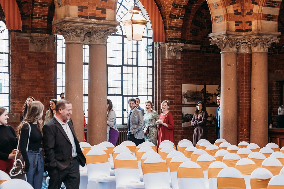 Wedding Guests arrive at Kelham Hall for a surprise wedding