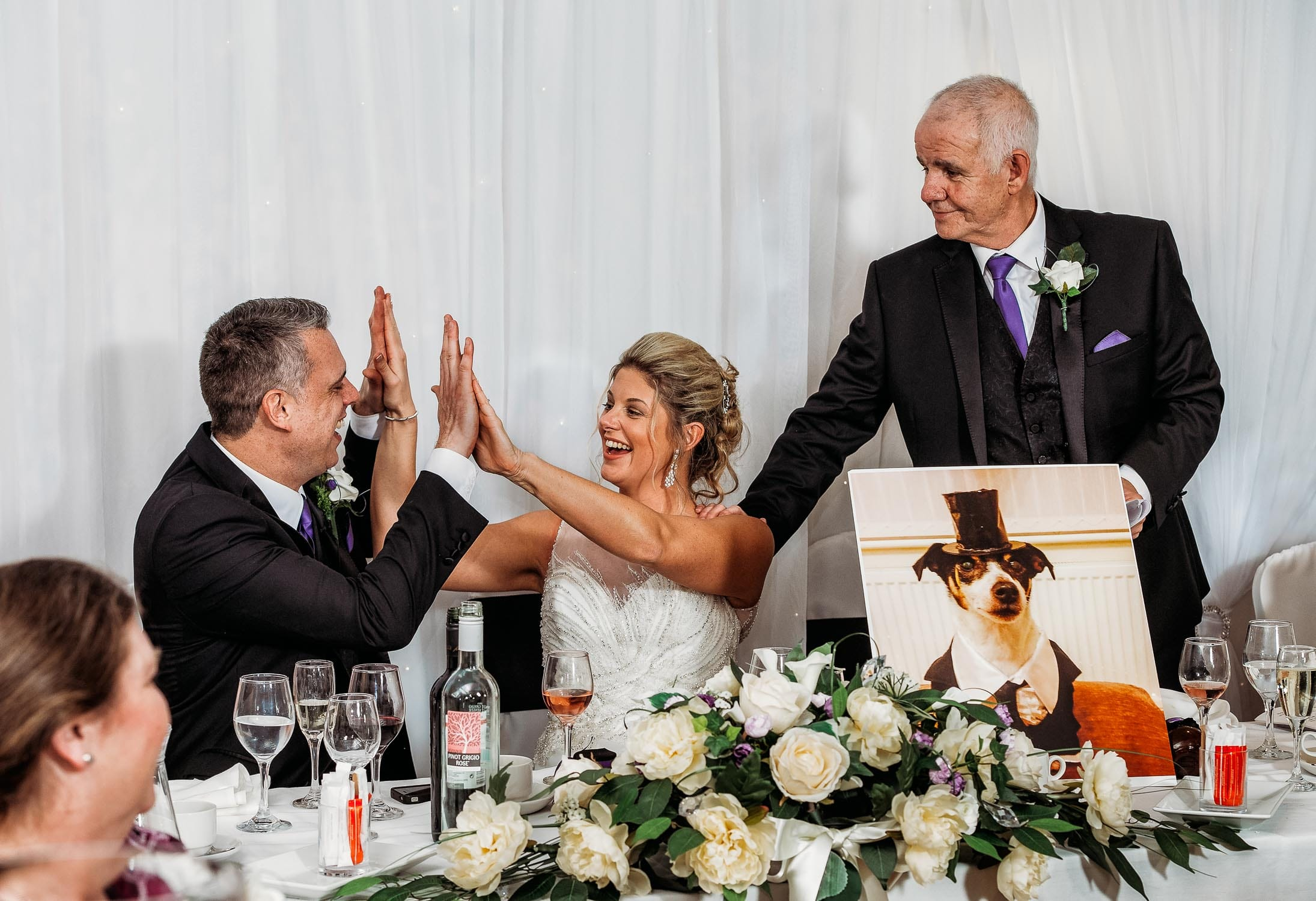 Speeches during a wedding at Breadsall Priory in Derby