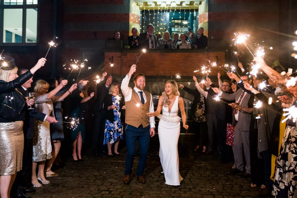 Pumping House Nottingham with Sparklers