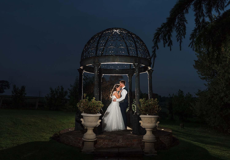 Wedding photo of the Pagoda at Swancar Farm