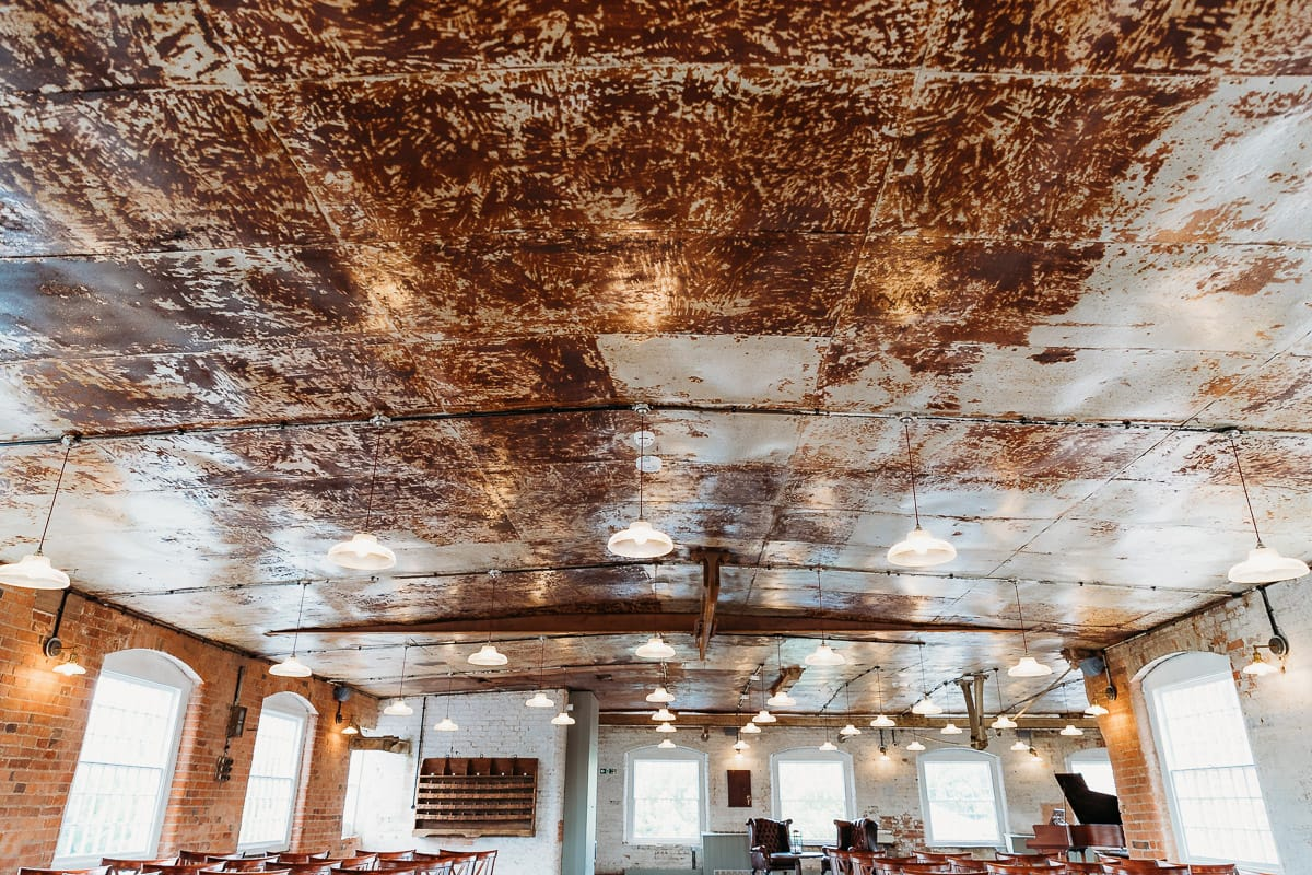 cast iron ceiling at West Mill in Derby