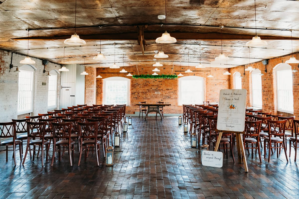 Cotton Quarter room where wedding ceremonies are held at West Mill in Derby