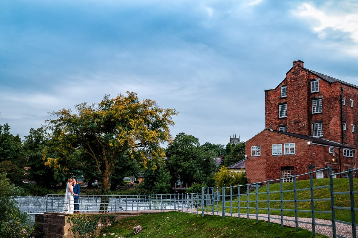 Bride and groom photo at The West Mill