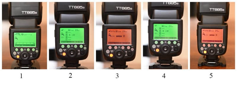 Rear LCD of Godox TT685N