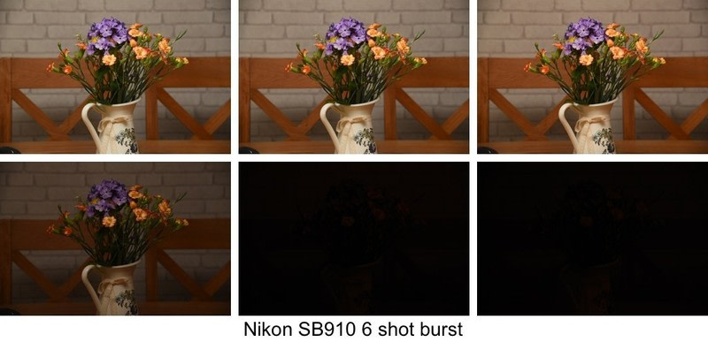 Results of Nikon SB-910 burst shot