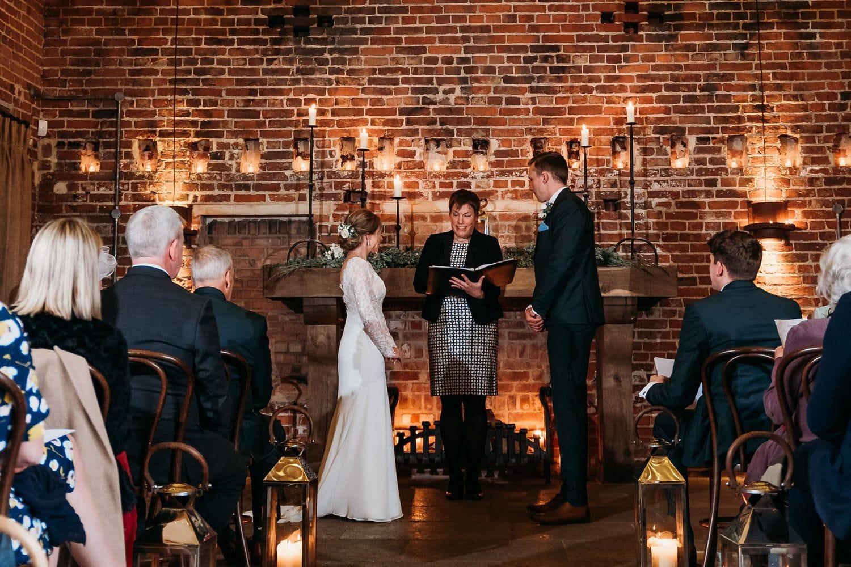 Celebrant wedding ceremony at Hazel Gap Barn