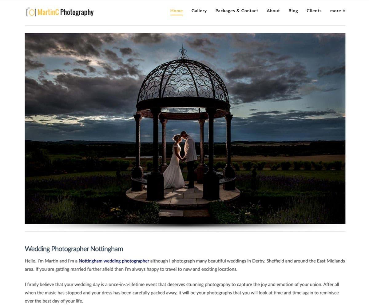 Wedding photographer mistakes - Website